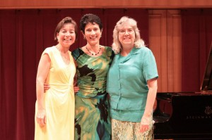 Mary Beth Shaffer, Elizabeth and Connie Glen at Lamont Academy