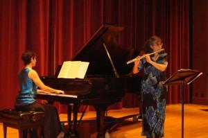 Collaboration with flutist, Barbara Leibundguth