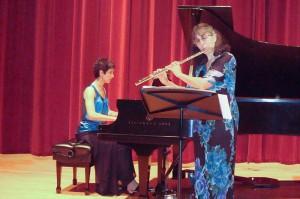 Music-making with flutist, Barbara Leibundguth