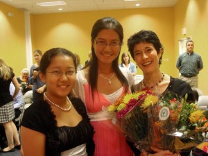 Post-concert with sisters Anita and Jean