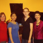 Dr. Diane Petrella, UMKC, with Jackie, Abby and Beth